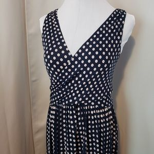 LOFT Navy Daisy Print Dress